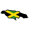 Map in colors of jamaica vector