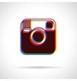 Hipster camera icon vector