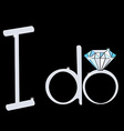 I do wedding with diamond ring engagement vector