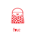 Love bag with hearts vector