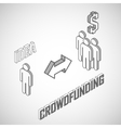 Infographic crowdfunding concept with isometric vector