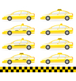 Set of modern isolated taxi vector