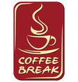 Coffee break label vector