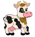 Cute cartoon cow isolated on white vector
