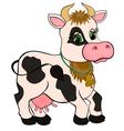 Cute cartoon cow isolated on white vector