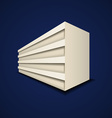 Abstract paper building icon vector