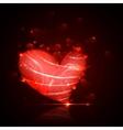 Shiny valentine heart vector