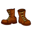 A pair of brown boots vector