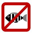 Sign of prohibited fishing vector