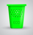 Green eco dustbin vector