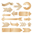 Arrow icons - vintage paper set vector