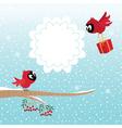 Birds in winter vector