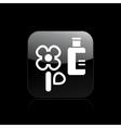 Flower bottle icon vector