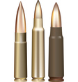 Three rifle bullets vector