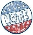 Doodle vote button vector