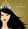 Miss beauty pageant vector