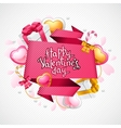 Valentines day background origami speech bubble vector