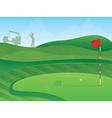 Golf course green vector