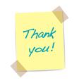 Thank you yellow sticker vector