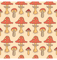 Autumn mushrooms vector