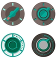 Flat icons for tumbler switches vector