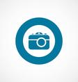 Photo camera bold blue border circle icon vector