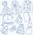 Lady's wear vector