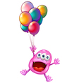 A happy monster with balloons vector