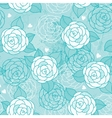 Seamless pattern with roses vector