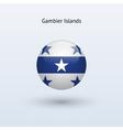 Gambier islands round flag vector