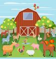 Farm with animals vector