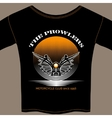 T-shirt template for motorcycle club member vector