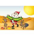 Santa in the desert vector
