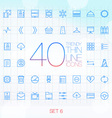 40 trendy thin icons for web and mobile set 6 vector