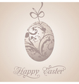 Easter paschal grunge egg vector