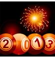 2013 bingo lottery balls and firework vector