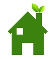 Green house and leaves  eps10 vector