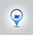 Coffee pins vector