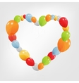 Colorful heart from balloons vector