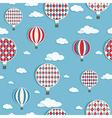 Hot air balloons pattern vector