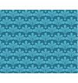Blue retro wallpaper seamless background vector