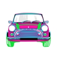 Beautiful and a pink car vector