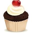 Cream muffin vector