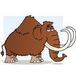 Mammoth cartoon mascot character vector