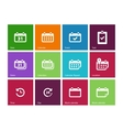Calendar icons on color background vector