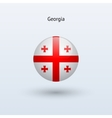 Georgia round flag vector