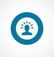 Idea bold blue border circle icon vector