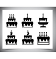 Set of cake icons vector