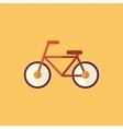 Bike transportation flat icon vector