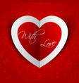 Heart in love background vector